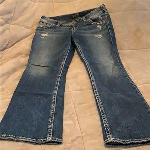 Silver Denim Bootcut Jeans
